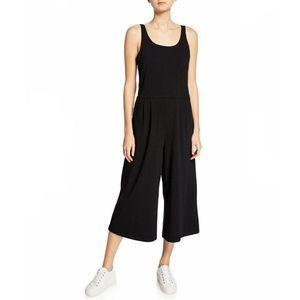 Eileen Fisher Wide Leg Stretch Jersey Jumpsuit Med